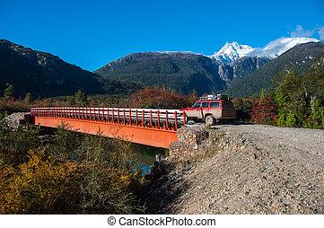 7, exploradores, austral, carretera, チリ, bahia, ハイウェー