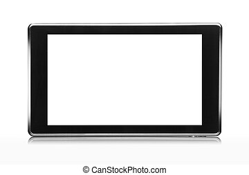 7 inch tablet pc isolated on white