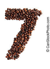7 - number from coffee beans