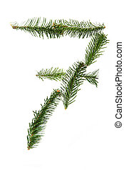 7 - number symbol from christmas alphabet