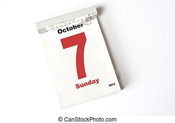 7. October 2012