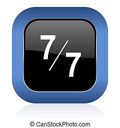 7 per 7 square glossy icon