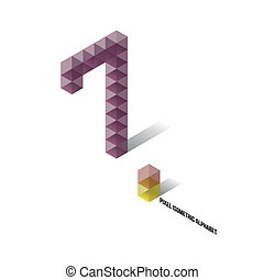 7 - Pixel Isometric Alphabet - Numbers