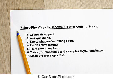 7 sure-fire ways to become a better communicator concept