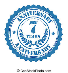 7 years anniversary stamp - 7 years anniversary grunge...