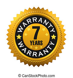 7 Years Warranty Sign