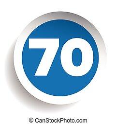 70, ベクトル, 数, アイコン