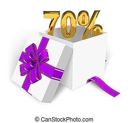 70% discount concept