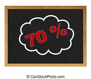 70 % discount.