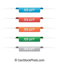 70% off paper tag labels
