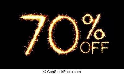 70% Off Text Sparkler Glitter Sparks Firework Loop Animation
