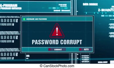 70. Password corrupt Warning Notification on Digital...