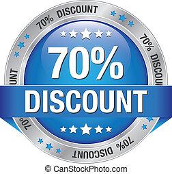 70 percent discount blue silver button