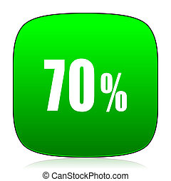 70 percent green icon