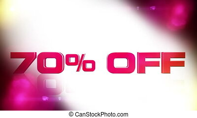 70 percent OFF 02 - 70 percent OFF discount animation