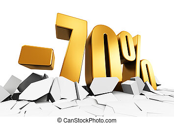 70 percent sale and discount advertisement concept