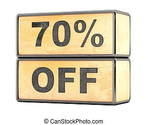 70 percent sale discount