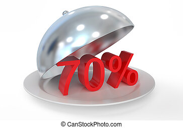 70 %,  sale and discount concept