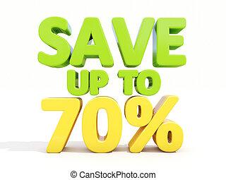 70%, sauver, haut