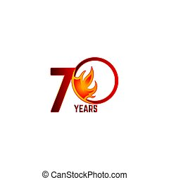 70 Years Anniversary Celebration Vector Template Design Illustration