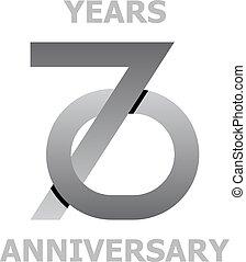 70 years anniversary symbol