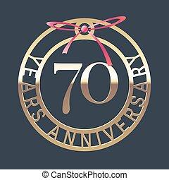 70 years anniversary vector icon, symbol. Graphic design...
