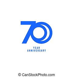 70 Years Anniversary Vector Template Design Illustration
