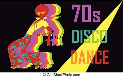 70s disco party - 70s style disco dance poster with a...