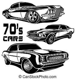 70s, voitures