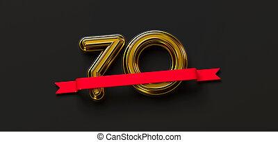 70th, εικόνα , απόδοση , 3d , επέτειος