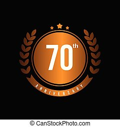 70th Anniversary Vector Template Design Illustration