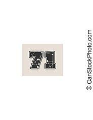 71 number vector illustration.