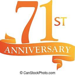 71 Year Ribbon Anniversary