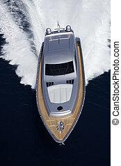 72', fermé, italie, mer, yacht, lazio, côte, alfamarine, luxe, tirrenian, aérien, fiumicino/rome, vue
