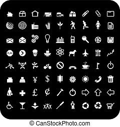 72 icons - A set of seventy two vector icon symbols