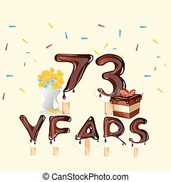 73 Years Happy Birthday card