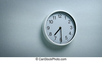7.30 Clock On Wall - Generic clock on wall showing 7.30...