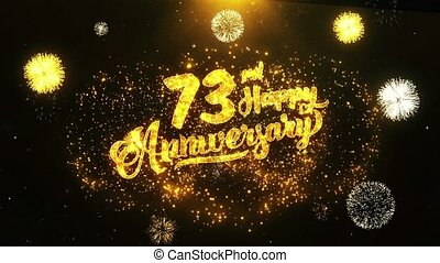 73rd Happy Anniversary Text Greeting, Wishes, Celebration, invitation Background