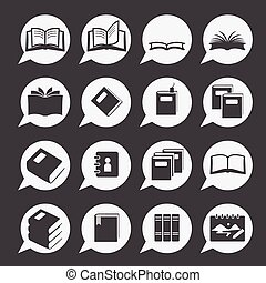 74-3Book icons - books icon set