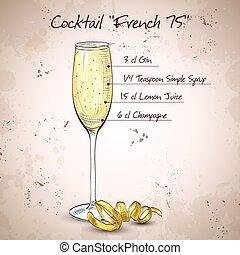 75, cóctel, francés