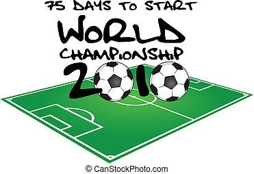 75 days to start soccer world championship