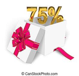 75% discount concept