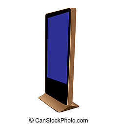 75 inch Touch screen Kiosk - An electronic kiosk (or...