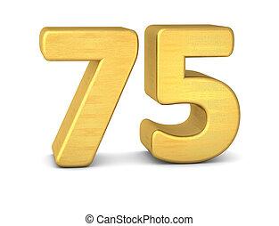 75, nombre, or, 3d
