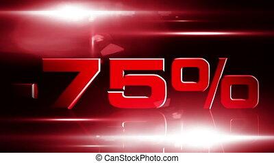 75 percent OFF 03 - 75 percent OFF discount animation