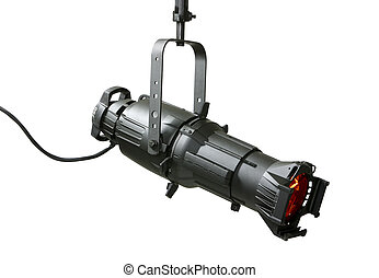 750 Watt ellipsoidal lighting fixture use in theatrical and stage productions and in the motion picture industry.