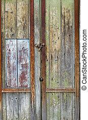 753 old wooden door