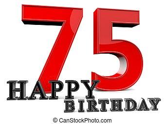 75th, γενέθλια , ευτυχισμένος