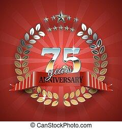 75th, doré, cadre, celebrative, anniversary.