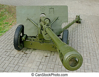 76-mm divisional gun of World War II - Gun tube of 76-mm ...